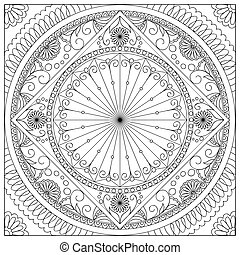mandala into the square - Mandala with hand drawn elements ...