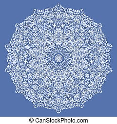 Mandala Isolated on Blue Background
