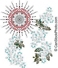 Mandala leaves fashion