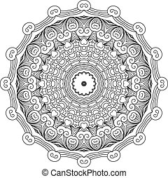 Mandala like round vintage ethnic ornament