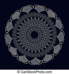 mandala meditation spirtual element vector illustration eps...