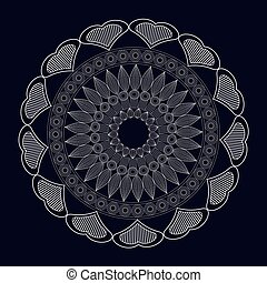 mandala meditation spirtual element vector illustration eps...