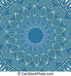 mandala mystical scheme blue background