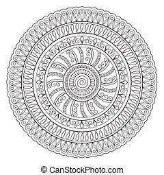 mandala oriental - Mandala with hand drawn elements. Islam, ...