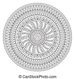 mandala oriental - Mandala with hand drawn elements. Islam,...