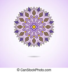 Mandala oriental round ornament.