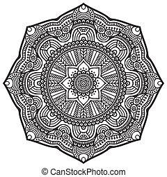 Mandala - Ornament beautiful card with mandala. Geometric...
