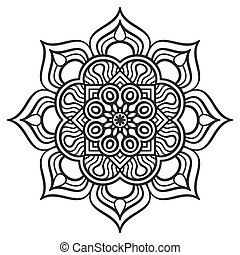 Mandala - Ornament beautiful card with mandala. Geometric...