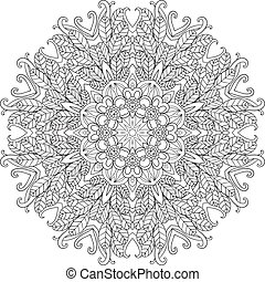 mandala., ornament, ronde