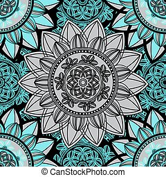 Mandala ornament seamless pattern