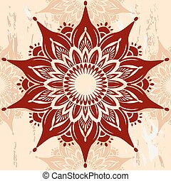 mandala, ornamento, redondo