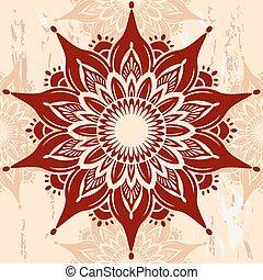 mandala, ornement, rond