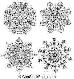 mandala, para, seu, desenho