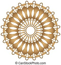 Mandala pattern design in golden color
