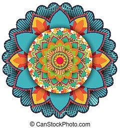 Mandala pattern design on white background