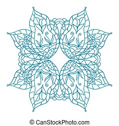 Mandala pattern. - Mandala vector pattern. Blue background....
