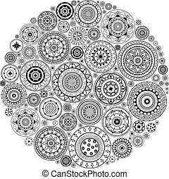 Mandala Pattern - Round Ornament Pattern.