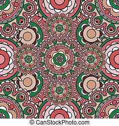 Mandala pattern seamless background