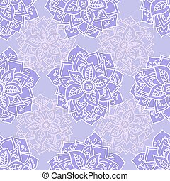 Mandala pattern. - Seamless pattern with Mandalas flowers....