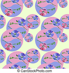 mandala, pattern., style., tekening, oosters, seamless