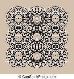 mandala, print., retro, ornate, mandala, papel parede, para, cartão cumprimento, folheto, cartão, ou, convite, com, islamic, árabe, indianas, otomano, asiático, arabescos