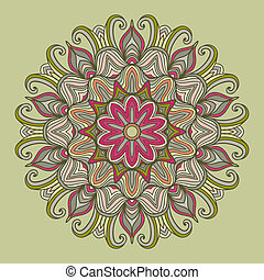 mandala., ronde, ornament, pattern.
