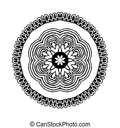 Mandala. Round oriental pattern in indian style