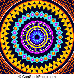 Mandala Round Ornament Pattern Drawing