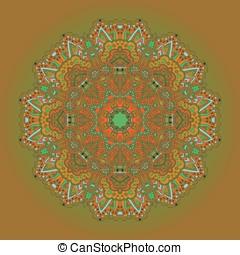 Mandala Round Ornament Pattern Vector