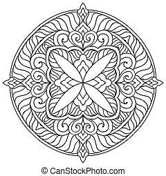 Mandala. Round Ornament Pattern. Vintage decorative...