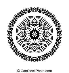 mandala., runder , orientalische , muster, in, indische , stil