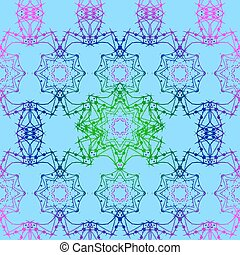 Mandala seamless 2, tribal vintage background with a medallion. Pattern with abstract art flower for Tibetan yoga