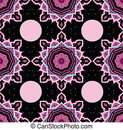 Mandala. Seamless background. Vector pattern.