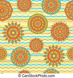 mandala seamless vector pattern