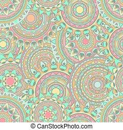 mandala seamless vector patterns