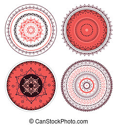 Mandala set. Vector Indian decorative pattern.