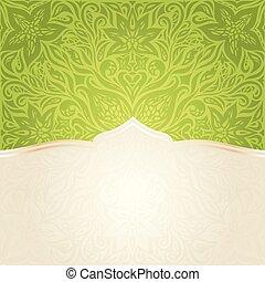 mandala, spazio, carta da parati, backround, vettore, verde, disegno floreale, copia, pasqua