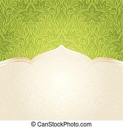 mandala, spazio, carta da parati, vettore, sfondo verde, disegno floreale, copia, pasqua