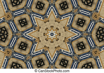 Mandala star background