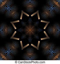 mandala, stjärna