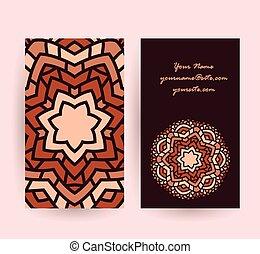 mandala symbol card vector