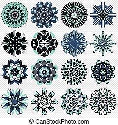 mandala symbol vector illustration collection