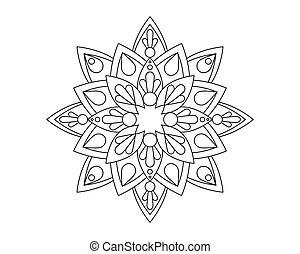 mandala, vecteur, ornement, illustration