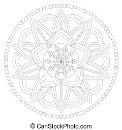 Mandala vector drawing