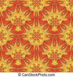 Mandala vector ornament set