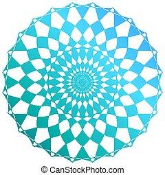 mandala, verde azul, cor desenho, padrão
