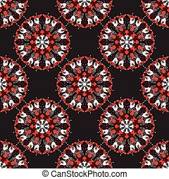 Mandala. Vintage decorative elements. seamless pattern.