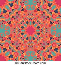 mandala vintage tribal seamless pattern vector illustration