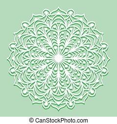 Mandala white lace ornament - Beautiful mandala lace...