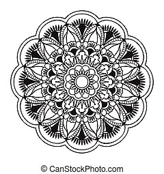 mandala with hand drawn elements - Hand drawn decorated...